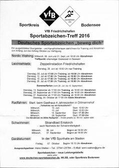 Deutsches Sportabzeichen Abnahme Sportkreis Bodensee 2016